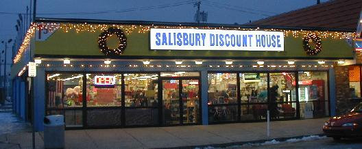 Stop in to the Discount House located at Salisbury Beach next to Cristy's Pizza where you can find everything from great Salisbury Beach gifts, camping supplies, household goods, great jewelry, toys, holiday supplies and always $ t-shirts. We try our best everyday to bring you great items at great prices and have been doing so for since